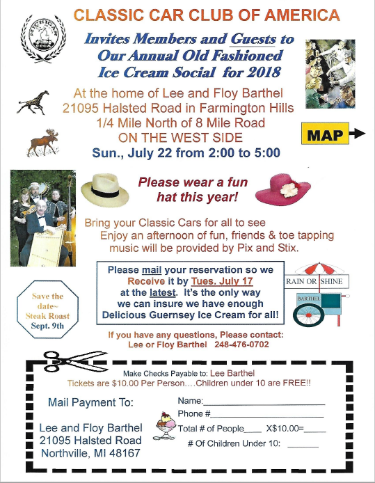 2018 ice cream social invitation