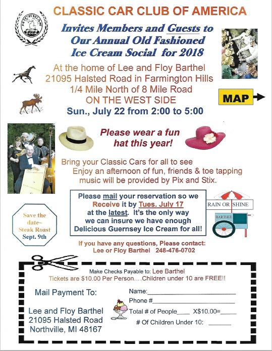 2018 ice cream social invitation