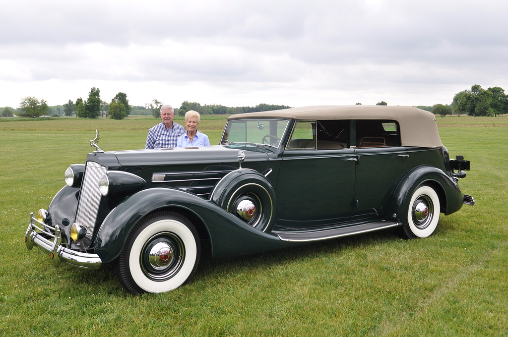 Larry & Carol Pumphrey - 1937 Packard 12, 1508 Convertible Sedan