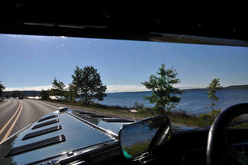 Lake Leelanau  means we approaching Leland, MI