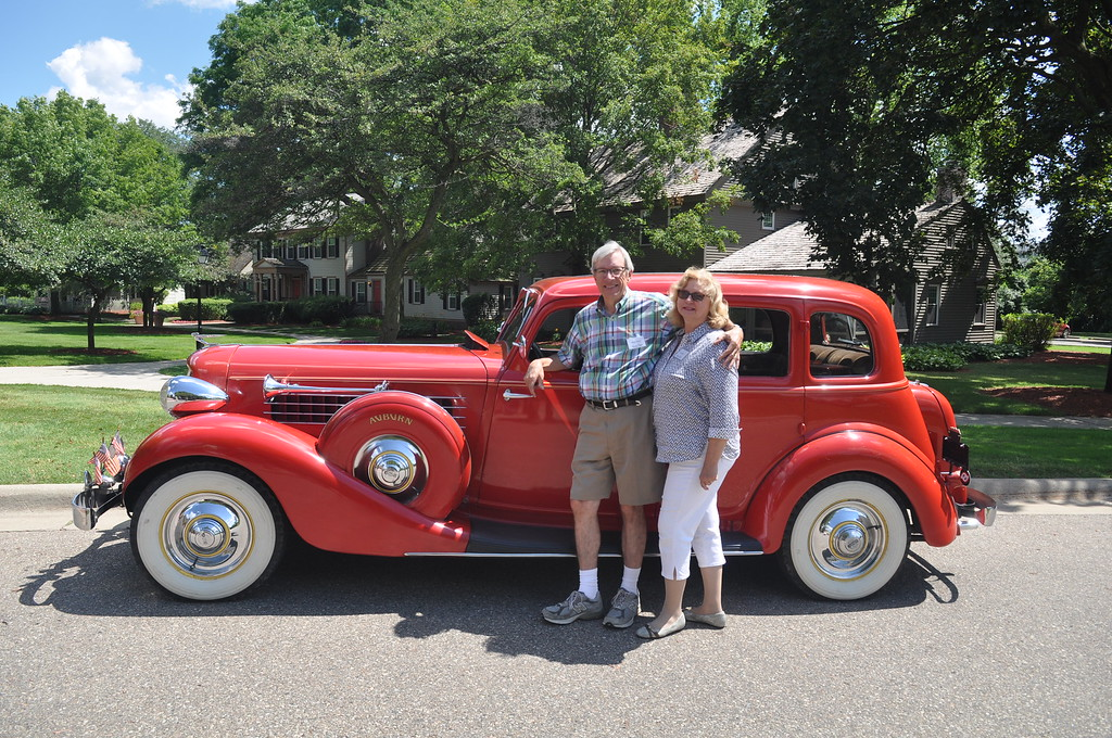Marcus & Irene Shelley - 1935 Auburn 8, 851 Sedan